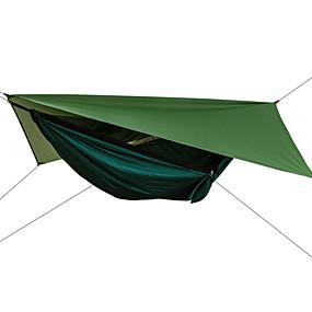 preiswerte Sport & Outdoor-Campinghängematte mit Moskitonetz Hängematte Rain Fly Außen Sonnenschutz Atmungsaktiv Extraleicht(UL) Fallschirm aus Nylon mit Karabinern und Baumgurten für 2 Personen Wandern Klettern Camping