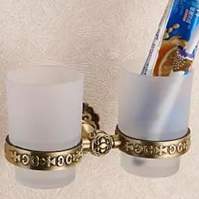 preiswerte Zahnbürstenhalter-Zahnbürstenhalter Kreativ / Automatisch Moderne Messing 2pcs Wandmontage