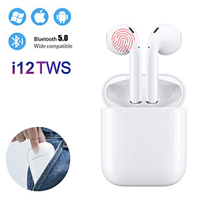 preiswerte Computer & Büro-Mini-i12 tws wahre drahtlose Ohrhörer Bluetooth 5.0 Kopfhörer Touch Control Kopfhörer 3D Surround Sound