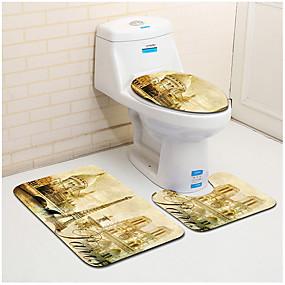 levne Podložky a koberečky-1 sada Klasické Koupelnové podložky 100g / m2 polyesterový elastický úplet Novinka / Zvíře / Retro kreativita / Neskluzový