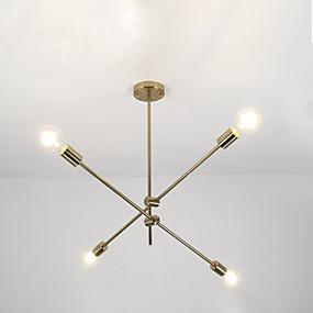 preiswerte Beleuchtung-4-Licht Sputnik / Geometrisch Kronleuchter Raumbeleuchtung Galvanisierung Metall Verstellbar 110-120V / 220-240V