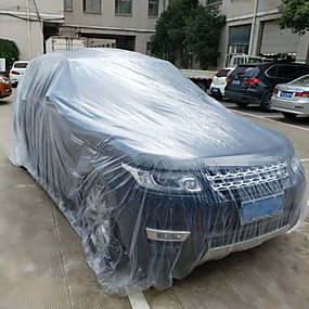 cheap Car Covers-3 Size LDPE Film Outdoor Clear Disposable Full Car Cover Rain/Dust Resistant Garage Universal Temporary