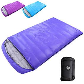 preiswerte Sport & Outdoor-Shamocamel® Schlafsack Draussen Doppelter Schlafsack -10~-25 °C Doppelbett(200 x 200) Enten Qualitätsdaune warm halten überdimensional 210*120 cm zum Camping & Wandern Camping & Wandern Erholung im
