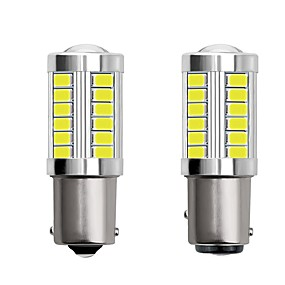 cheap Car Signal Lights-2pcs 1156 BA15S 1157 BAY15D Car LED Light Bulbs 4W 12V SMD 5730 33 LED Turn Signal Lights Tail Lights Brake Lights Stop Lights