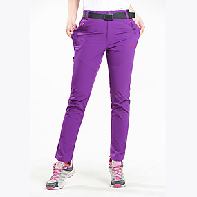cheap Camping, Hiking & Backpacking-Women's Hiking Pants Trousers Solid Color Summer Outdoor Quick Dry Multi Pockets Zipper Pocket Lightweight Nylon Spandex Pants / Trousers Bottoms Purple Black Camping / Hiking Hunting Fishing M L XL