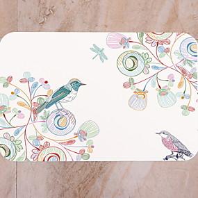 preiswerte Läufer und Teppiche-1pc Modern Badvorleger 100g / m2 Polyester gestricktes Stretch Blumenmuster Bad Rutschfest
