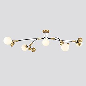 cheap Ceiling Lights & Fans-ZHISHU 5-Light 58 cm WIFI Control Tri-color Chandelier Metal Glass Sputnik Globe Electroplated Painted Finishes Artistic Chic & Modern 110-120V 220-240V G9