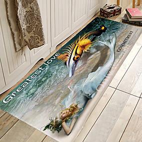 voordelige Matten & Tapijten-1pc Modern Badmatten Coral Velve Creatief / Nieuwigheid 5mm Badkamer Schattig / Anti-slip / Makkelijk schoon te maken