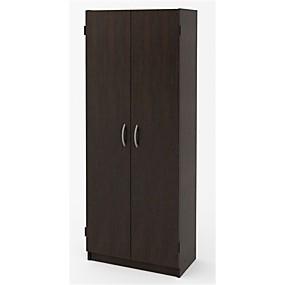 preiswerte Kästen & Schränke-moderner Kleiderschrank mit 2 Türen und Schrank in Espresso-Holzoptik