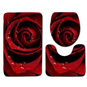 levne Podložky a koberečky-1 sada Klasické Koupelnové podložky 100g / m2 polyesterový elastický úplet Geometrický / Novinka / Květiny Neskluzový / Nový design