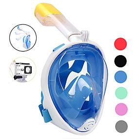 preiswerte Diving-Tauchmasken Vollgesichtsmaske Einzelfenster - Schwimmen Silikon - Für Erwachsene Schwarz / 180 Grad / Auslaufsicher / Anti-Beschlag