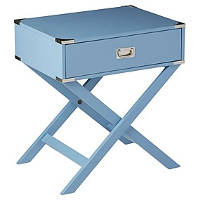 preiswerte Beistelltische-moderner Nachttisch mit 1 Schublade in blauer Ausführung