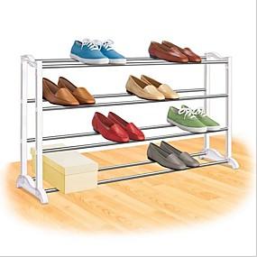 preiswerte Aufbewahrungs-Organizer-4-stufiges Schuhregal - für bis zu 20 Paar Schuhe