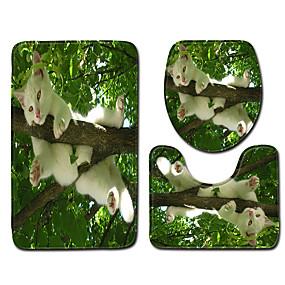 voordelige Matten & Tapijten-1 set Klassiek Badmatten 100g / m² Polyester Gebreid en Gestrekt Nieuwigheid / dier Anti-slip / Nieuw Design