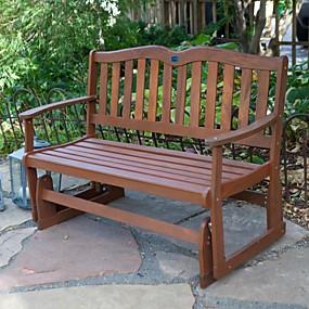 preiswerte Outdoor-Bänke-4-Fuß-Outdoor-Gartenbanksegelflugzeug mit Armlehnen in Naturholzoptik