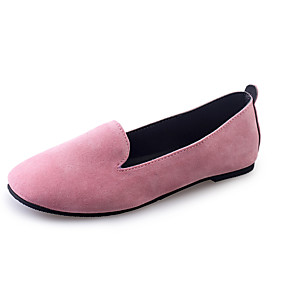 voordelige Damesinstappers & loafers-Dames Loafers & Slip-Ons Platte hak PU Zomer Zwart / Grijs / Roze