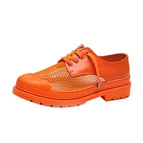 voordelige Damessneakers-Dames Netstof Zomer Sneakers Gesplitste zool Zwart / Oranje / Geel