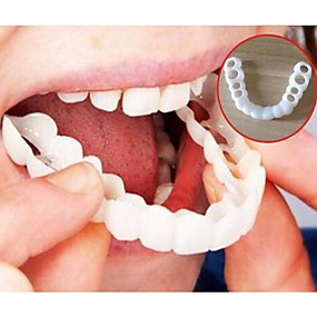 cheap Health & Personal  Care-Whitening Snap Perfect Smile Teeth Fake Tooth Cover On Smile Instant Teeth Cosmetic Denture Care for Upper One Size Fits