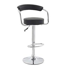 preiswerte Küche- und Esszimmermöbel-moderner klassischer smart Barhocker mit Kunstledersitz&Ampere; zurück