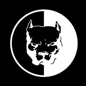 preiswerte Car Stickers-einzigartige reflektierende Autoaufkleberabziehbilder der lustigen Hundebulldogge