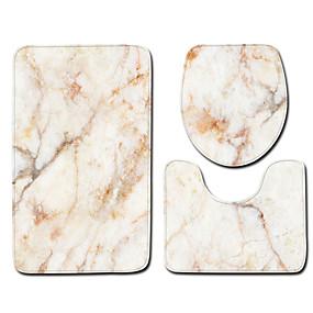 levne Podložky a koberečky-1 sada Klasické Koupelnové podložky 100g / m2 polyesterový elastický úplet S proužky / Novinka kreativita / Neskluzový