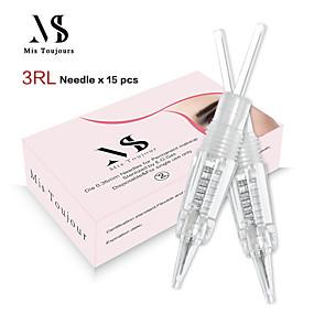preiswerte Dauerhafte Verfassungs-Nadeln & Spitzen-Kits / beste Qualität / Einweg 30pcs Edelstahl + eine Klasse ABS Permanent Make-up Nadeln& tipps