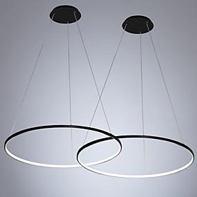 povoljno Lámpatestek-2pcs / lot led30w moderni krug privjesak svjetlo ambijentalno svjetlo oslikano za spavaću sobu blagovaonicu / toplo bijelo / bijelo / dimmable s daljinskim / WiFi pametna kontrola / 110-120v /