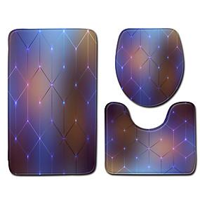 levne Podložky a koberečky-1 sada Klasické Koupelnové podložky 100g / m2 polyesterový elastický úplet kreativita / Novinka Neskluzový / Nový design