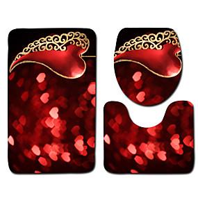 levne Podložky a koberečky-1 sada Klasické Koupelnové podložky 100g / m2 polyesterový elastický úplet Novinka / Květiny Neskluzový / Půvab