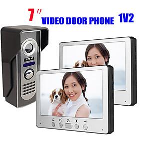 preiswerte Video Türsprechanlage-815m12 ultradünne 7-Zoll-Video-Türklingel HD Villa Video Intercom Außengerät Nachtsicht Regen Entsperrfunktion