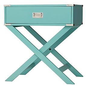 preiswerte Beistelltische-marinegrün türkis 1 Schublade moderner Beistelltisch Nachttisch