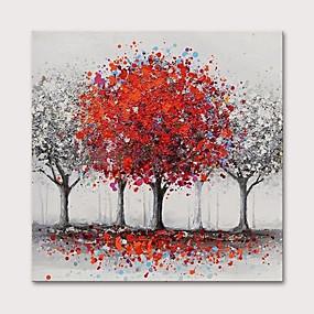 povoljno Slike za cvjetnim/biljnim motivima-Hang oslikana uljanim bojama Ručno oslikana - Cvjetni / Botanički Apstraktni pejsaži Moderna Uključi Unutarnji okvir
