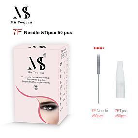 preiswerte Dauerhafte Verfassungs-Nadeln & Spitzen-Kits 1 Satz Edelstahl + eine Klasse ABS Permanent Make-up-Nadeln& tipps