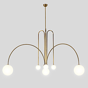 cheap Globe Design-ZHISHU 8-Light 130 cm New Design Chandelier Metal Glass Geometrical / Industrial / Novelty Painted Finishes Artistic / Chic & Modern 110-120V / 220-240V