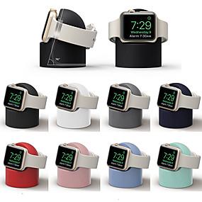 preiswerte Smartwatch Halterungen und Halter-Ständer all-in-1 Kieselgel Schreibtisch für Apple Watch Serie 4/3/2/1 kabelloses Laden