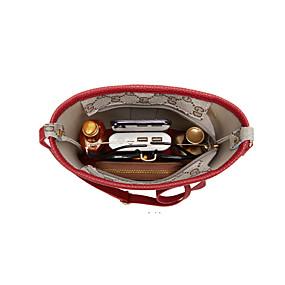 cheap Shoes & Bags-Women's Zipper PU(Polyurethane) / PU Crossbody Bag Black / Blushing Pink / Red / Fall & Winter