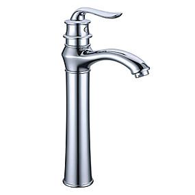 billige Nyheter-Baderom Sink Tappekran - Utbredt Krom Centersat Enkelt Håndtak Et HullBath Taps