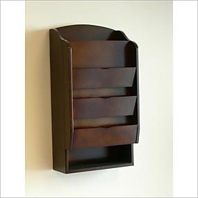preiswerte Aufbewahrungsmöglichkeiten-Briefsortierer mit Tür- / Wandhalterung in dunklem Nussbaum