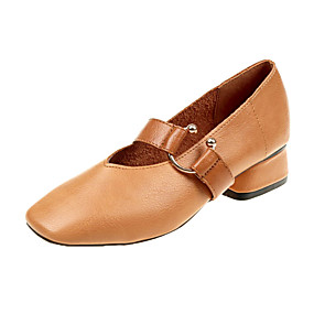 voordelige Damesinstappers & loafers-Dames Loafers & Slip-Ons Blok hiel PU Lente & Herfst / Lente zomer Zwart / Beige / Bruin