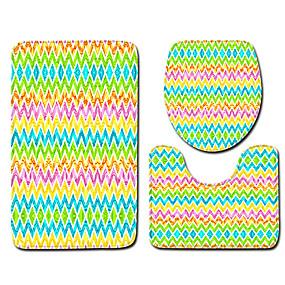 voordelige Matten & Tapijten-1 set Klassiek Badmatten 100g / m² Polyester Gebreid en Gestrekt Creatief / Nieuwigheid Anti-slip / Nieuw Design