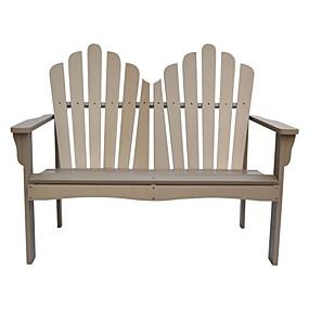 preiswerte Outdoor-Bänke-Gartenbank aus Zedernholz für den Außenbereich in taupegrauer Ausführung