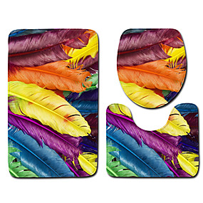 levne Podložky a koberečky-1 sada Klasické Koupelnové podložky 100g / m2 polyesterový elastický úplet Geometrický / Novinka Neskluzový / Nový design