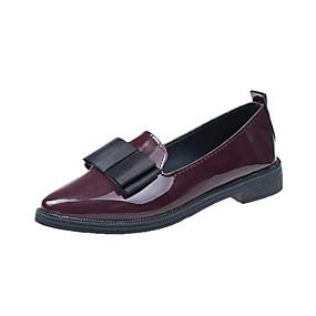 voordelige Damesschoenen met platte hak-Dames PU Lente & Herfst Platte schoenen Lage hak Zwart / Bordeaux