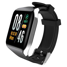 preiswerte Schmuck & Armbanduhren-Uhr Smartwatch digital Moderner Stil Sportlich Stilvoll Silikon 30 m Wasserdicht Herzschlagmonitor Bluetooth digital Freizeit Draußen Schwarz Gold Silber