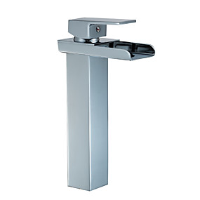 billige Nyheter-Baderom Sink Tappekran - Utbredt galvanisert Centersat Enkelt Håndtak Et HullBath Taps
