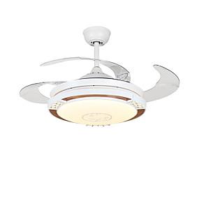 cheap Ceiling Fan Lights-1-Light QINGMING® 108 cm Mini Style / Tri-color Ceiling Fan Metal Circle / Mini Electroplated LED / Modern 110-120V / 220-240V
