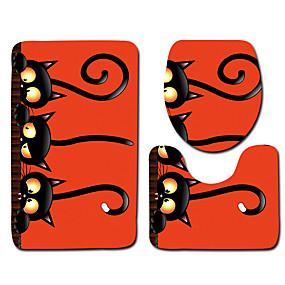 voordelige Matten & Tapijten-1 set Klassiek Badmatten 100g / m² Polyester Gebreid en Gestrekt Nieuwigheid / dier Anti-slip / Creatief