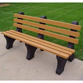 preiswerte Outdoor-Bänke-Umweltfreundliche Parkbank aus Kunststoff für den Außenbereich in Zedernfarbe - Made in USA