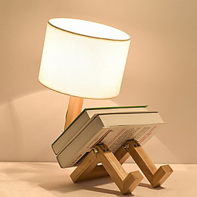 cheap Table Lamps-Table Lamp Modern Contemporary For Bedroom Study Room Office Wood Bamboo 220V