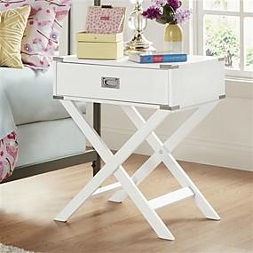 preiswerte Beistelltische-weiße moderne Schlafzimmer Dekor 1 Schublade Nachttisch Nachttisch Beistelltisch